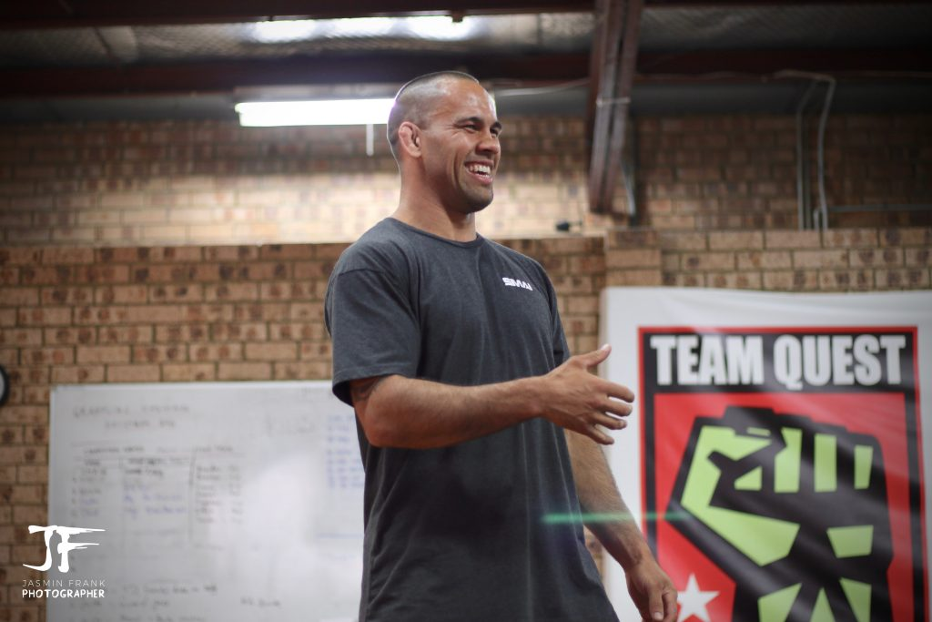 Coach James Te Huna teaching Mixed Martial Arts classes