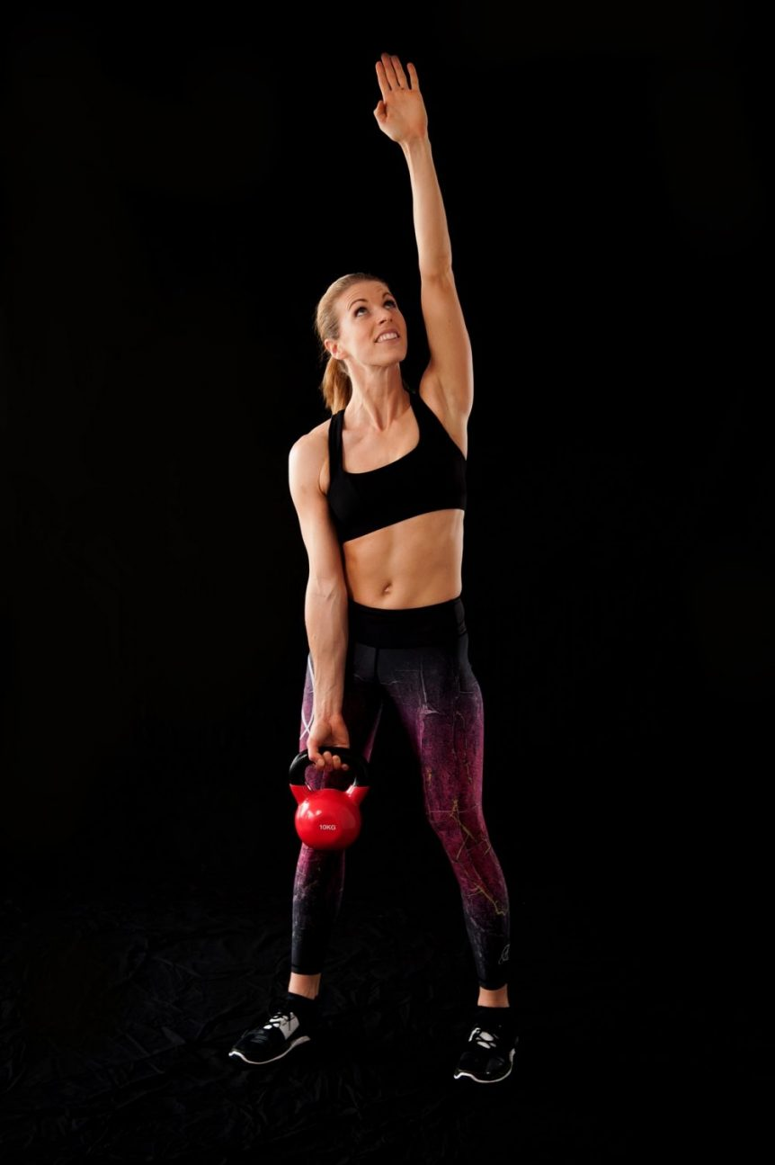 Womens Fitness- Kettlebell lifting in Womens Combat Fitness and Strength class
